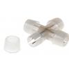 Коннектор для дюралайта 13 мм, 2W, Х - образный 461020