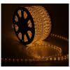 LED шнур  13 мм, круглый, 100 м, фиксинг, 2W-LED/м-36-220V. в компл. набор д/подкл. Желтый 461028