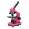 Микроскоп школьный Эврика 40х-400х в кейсе фуксия