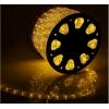 LED шнур  11 мм, круглый, 100 м, фиксинг, 2W-LED/м-24-220V, в компл. набор д/подкл. Желтый 767712