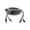 Шнур комбинированный для видеокамеры с шиной питания 5м
